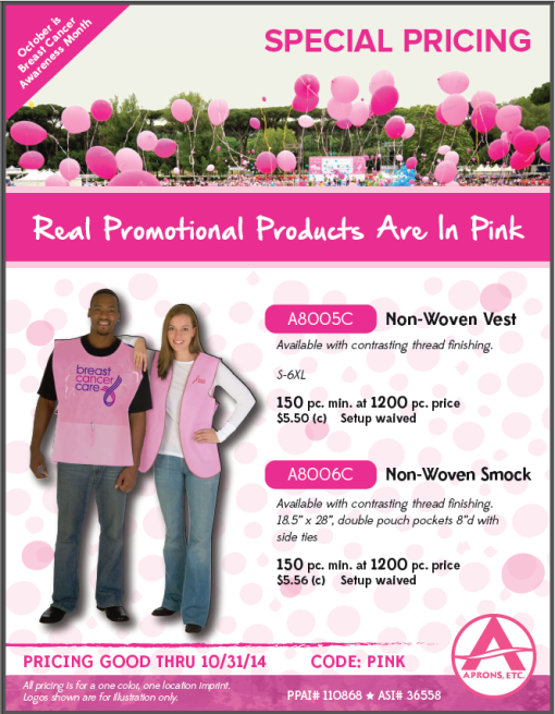 Pink Awareness Marketing Uniforms